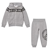 Moschino Grey Branded and Peace Tracksuit