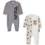 Moschino 2 Pack of All Over Bear and Grey Babygrow Gift Box