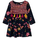 Billieblush Navy Floral and Butterfly Print Tassle Dress