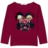 Billieblush Burgandy Mouse Applique Tee