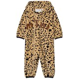 Mini Rodini Beige Spot Fleece Onesie