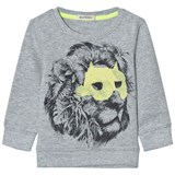 Billybandit Grey Lion Print Sweater