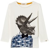 Billybandit White Dinosaur Head Print T-Shirt