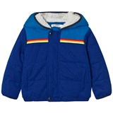 Billybandit Blue Colour Block Teddy Lined Hood Puffer Coat