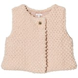Chloé Pink Textured Knitted Gilet