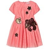 Little Marc Jacobs Pink Embroidered Tulle Party Dress Mini Me