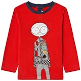 Little Marc Jacobs Red Mr Marc Racing Driver Print Tee