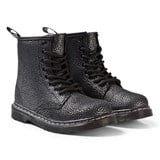 Dr. Martens Black and Silver Pebble Delaney Boots