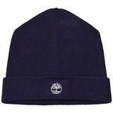 Timberland Kids Navy Knit Branded Beanie