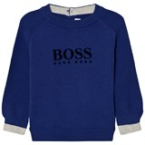 BOSS Royal Blue Knit Branded Jumper