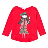 Little Marc Jacobs Red Miss Marc Print Long Sleeve Tee