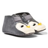 Stella McCartney Kids Grey Penguin Crib Shoes
