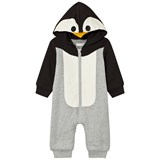 Stella McCartney Kids Penguin Hooded Footless Babygrow