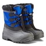 Armani Junior Blue and Grey Branded Snow Boots