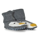 Stella McCartney Kids Grey Penguin Flopsy Knit Booties