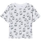Stella McCartney Kids Grey Ghost Print Tee