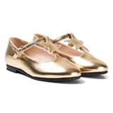 Il Gufo Gold Star Detail T-Bar Mary Janes