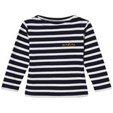 Maison Labiche Navy Sunshine Embroidered Stripe Long Sleeve Tee