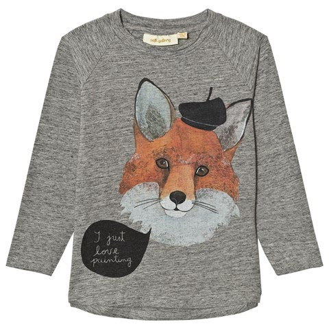 Soft Gallery Grey Melange Viggo Frenchfox T-Shirt