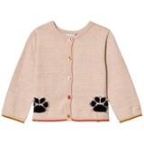 Catimini Pink Glitter Paw and Face Design Cardigan
