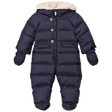 Il Gufo Navy Down Snowsuit with Detachable Mittens and Booties