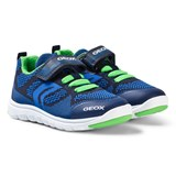 Geox Navy and Blue Xunday Knit Velcro Trainers