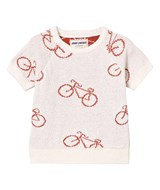 Bobo Choses Off White The Cyclist Baby Knit Jumper