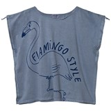 Bobo Choses T-Shirt Drawstring Flamingo Cloud Blue
