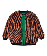 Bobo Choses Orange Faux Fur Reversible Hypnotized Jacket