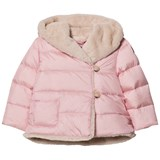 Il Gufo Pink Faux Faur Lined Hooded Coat