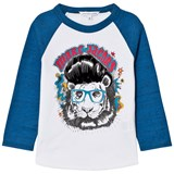 Little Marc Jacobs White and Blue Marc Tiger Print Tee