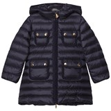 Moncler Navy Padded Nuages Girls Coat
