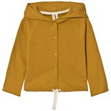 Gray Label Mustard Pop Button Hooded Cardigan