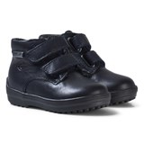 Naturino Navy Leather and Lined Velcro Boots