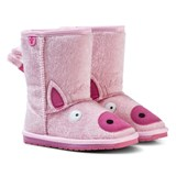 Emu Australia Pale Pink Piggy Boots with Merino Lining
