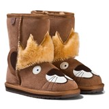 Emu Australia Brown Suede Leo Lion Boots with Merino Lining