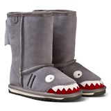 Emu Australia Grey Suede Shark Boots with Merino Lining