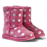 Emu Australia Pink Spotty Brumby Waterproof Boots with Merino Lining