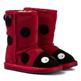 Emu Australia Red Suede Ladybird Boots with Merino Lining