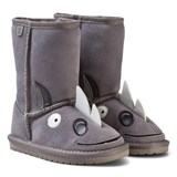 Emu Australia Grey Suede Leather Rhino Boots with Merino Lining