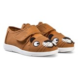 Emu Australia Brown Faux Leather Lion Trainers