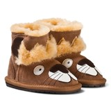Emu Australia Brown Suede Leather Leo Lion First Walkers