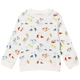 Stella McCartney Kids Off-White Scribbles and Skate Print Sweatshirt