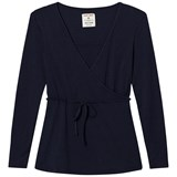 Mom2Mom Navy Wrap Top