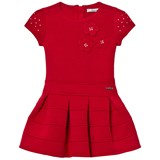 Mayoral Red Flower Applique Milano Dress
