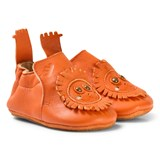 Easy Peasy Orange Leather Lion BluBlu Shoes