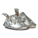 Easy Peasy Pewter Leather Teddy BluBlu Shoes