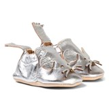 Easy Peasy Silver Metallic Mouse Blumoo Crib Shoes