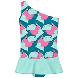 Gardner and The Gang Blue and Pink Printed Swimsuit with Flared Skirt