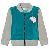 Gardner and The Gang Grey and Teal Bomber Jacket